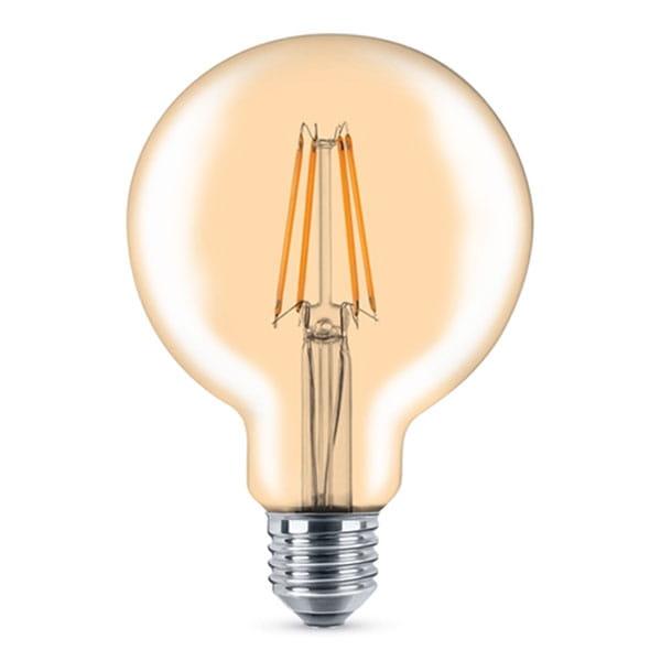 Lampadina LED Filament Gold Vintage Globe 7W Equivalente a 55W E27