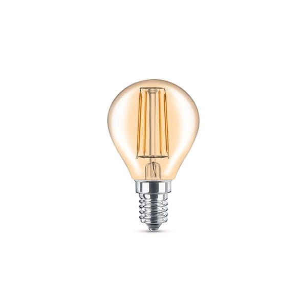 Lampadina LED Filament Gold Vintage Miniglobe 3.6W Equivalente a 30W E14
