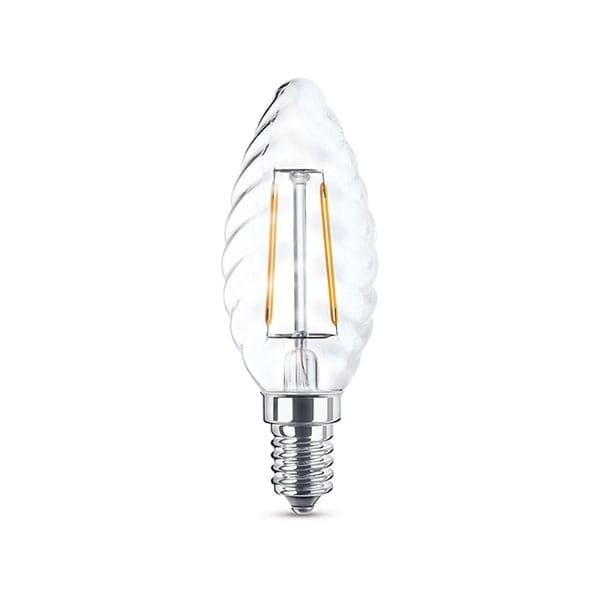 Lampadina a LED Filament Clear Tortiglione 6W equivalente 60W E14