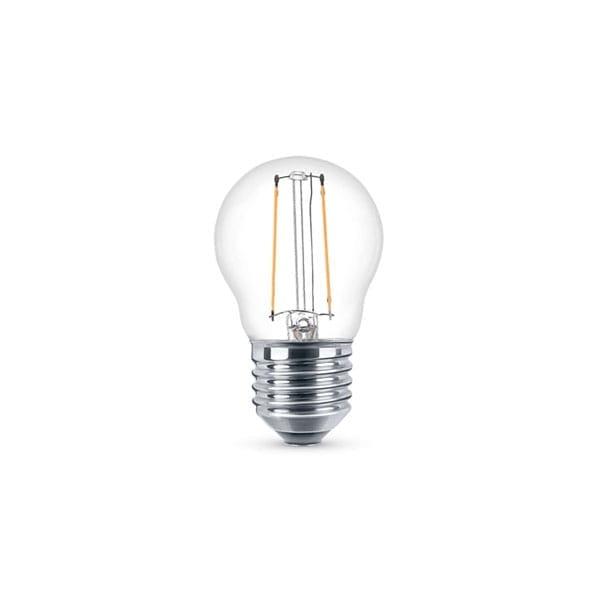 Lampadina a LED Filament Clear Miniglobe 2W Equivalente a 25W E27