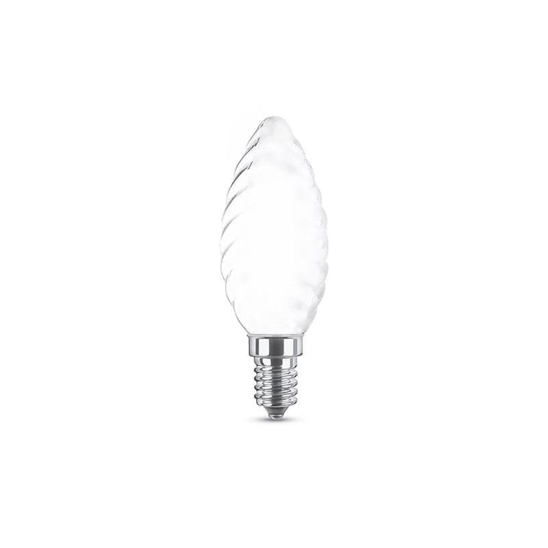 Lampadina a LED Filament Opal Clear Tortiglione 4W E14