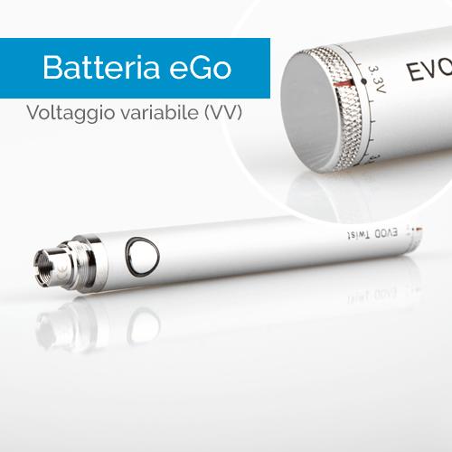 Batteria eGo a voltaggio variabile - Infografica