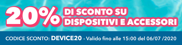 20% di SCONTO su Dispositivi e Accessori, su Vaporoso.it