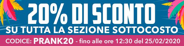 20% si SCONTO su TUTTA la sezione SOTTOCOSTO, su Vaporoso.it