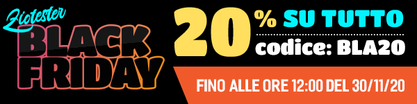 Black Friday su tutto il catalogo di Ziotester.it