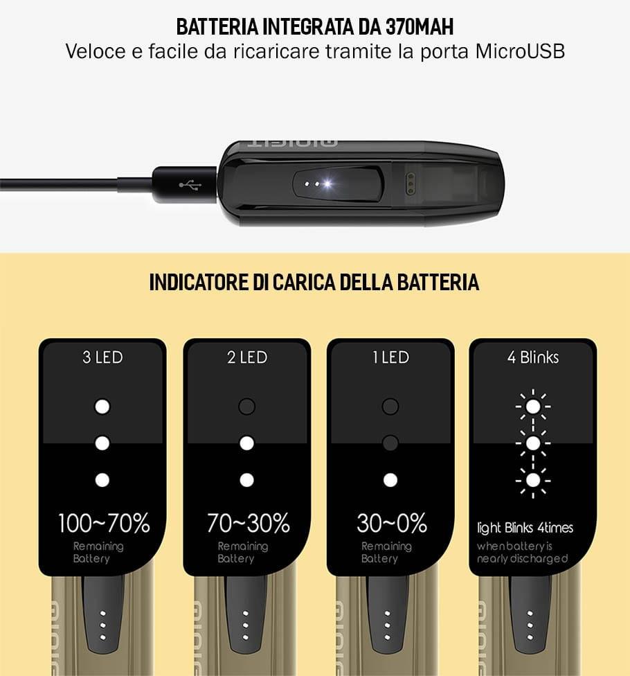 Carica della batteria Minifit