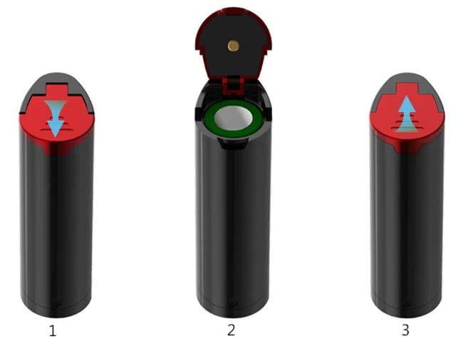 Come installare una batteria 18650 su Smok Priv V8