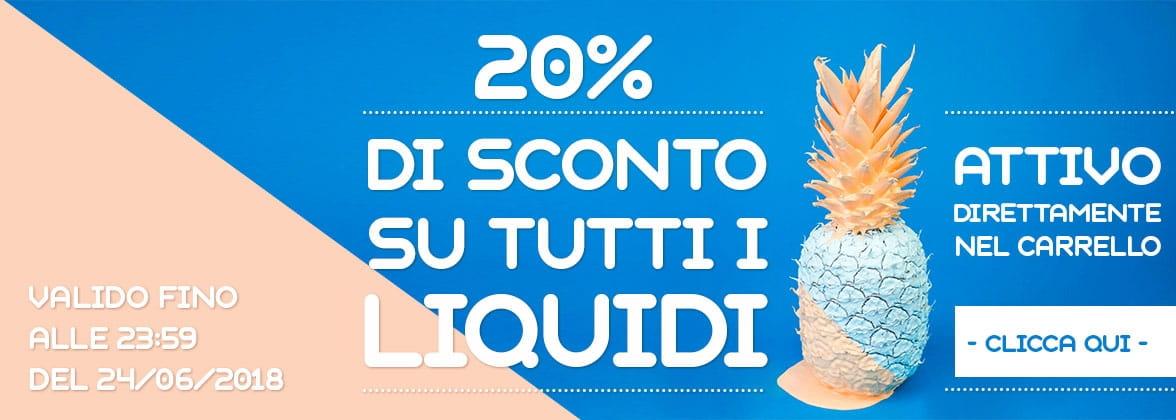 Sconto 20% Liquidi Sigaretta Elettronica